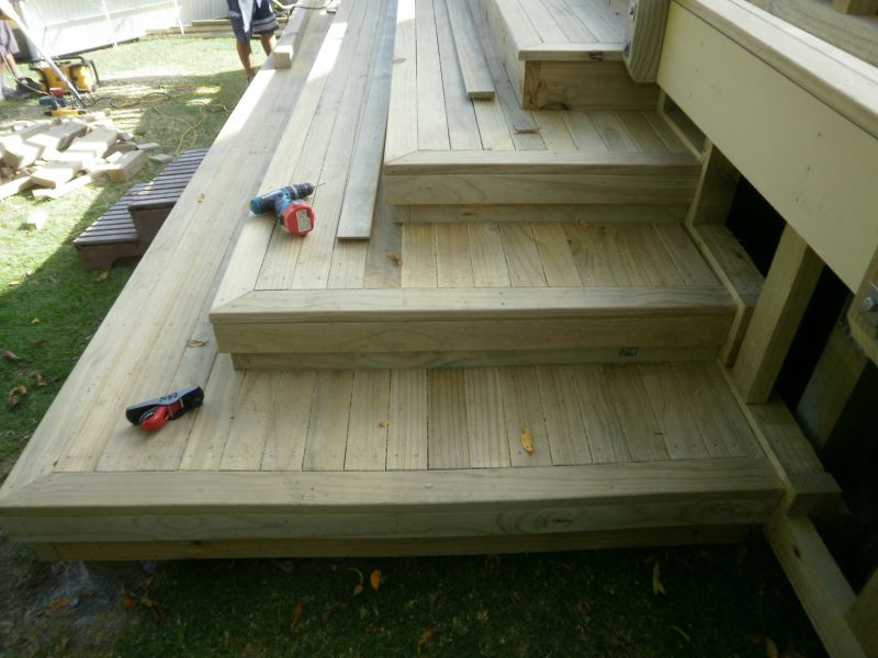 Cascading deck stairs joy studio design gallery best for Basic deck building instructions